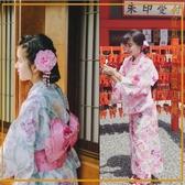 日本和服女式長款浴袍浴衣套裝cos【奇趣小屋】
