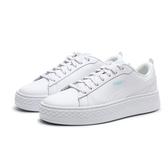 PUMA SMASH PLATFORM Q4 全白 紅藍 加厚 增高 休閒鞋 女 (布魯克林) 36983301