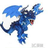 恐龍玩具 電動行走燈光恐龍帶聲音雙頭翼龍超級霸氣仿真模型 3C優購