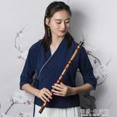 伶吟苦竹笛子樂器C成人專業演奏高級橫笛F調高檔接銅G套笛女AQ 有緣生活館