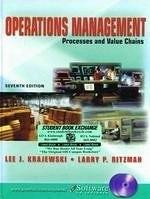 二手書博民逛書店 《Operations Management: Strategy and Analysi, 7th》 R2Y ISBN:0131436643│LeeKrajewski
