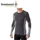 【美國 SmartWool 男Phd機能輕量長袖衫《石墨灰》】SW0SO932/長袖衛生衣/登山健行/保暖圓領