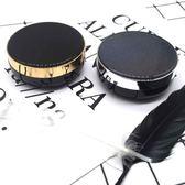diy氣墊盒 黑色星辰米老鼠氣墊空盒子氣墊空殼自制diy粉撲氣墊盒【週年慶免運八折】