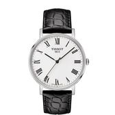 ◆TISSOT◆EVERYTIME MEDIUM簡約大三針石英腕錶T109.410.16.033.01黑X白