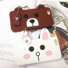 6S  IPhone 6 Plus 可愛小熊兔子iphone6s手機殼掛繩情侶兔全包矽膠保護套(任選二件$900)