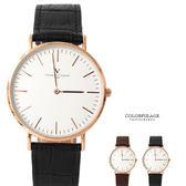 范倫鐵諾Valentino 極簡刻度真皮手錶腕錶 中性款 原廠公司貨 柒彩年代【NE1659】單支售價