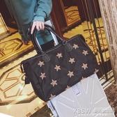 短途旅行包女手提行李包韓版大容量牛津布旅行袋輕便防水健身包潮『新佰數位屋』