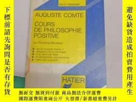 二手書博民逛書店cours罕見de Philosophie Positive(V173)Y173412 AUGUSTE COM