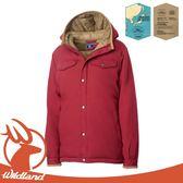 【Wildland 荒野 女 鵝絨防潑水極暖外套《赭紅》】OA62993/羽絨外套/連帽羽絨衣/夾克