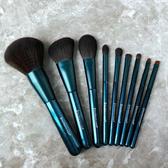 化妝刷 受受狼 幽藍精簡版新手9支化妝套刷散粉腮紅高光眼影刷送刷桶 京都3C