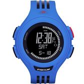 adidas 圓型大面板電子腕錶(藍黑)