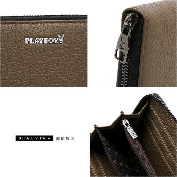 PLAYBOY - ㄇ拉長夾 COSMOS系列 - 咖色