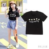 女童短袖2020新款童裝兒童棉質t恤夏裝打底衫中大童夏季上衣體恤 TR1418『俏美人大尺碼』
