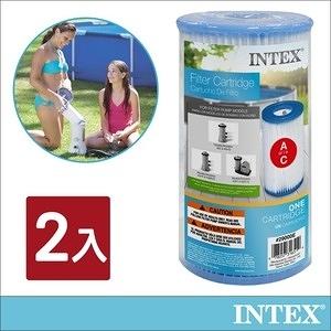 INTEX游泳池配件-簡易濾水器濾心桶(2入組)(29002E)