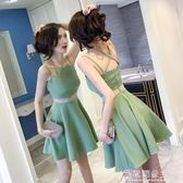 新款女裝夏裝顯瘦小個子心機露背流行修身夜店性感吊帶洋裝花間公主