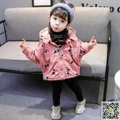 女童秋冬裝寶寶棉衣服寶寶加厚風衣外套兒童棉襖女童外套1-3-5歲 聖誕狂購免運