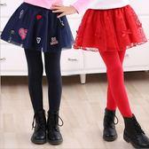 店長推薦 女童春夏裙褲假兩件帶裙子3-15歲兒童裝小女孩子打底褲高腰小腳褲
