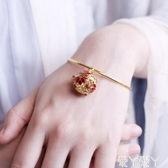 手鐲中國風暗香盈袖手鐲復古宮廷可打開可調節閨蜜手環二蘇舊局香囊聖誕交換禮物