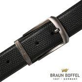 【BRAUN BUFFEL】德國小金牛 沉穩紳士品味穿針式皮帶(鎗色)BF17B-086T-SGU