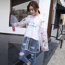 雨衣女透明成人戶外時尚單1人徒步防水雨衣學生韓版 免運快速出貨