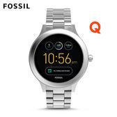 FOSSIL Q VENTURE 低調銀不鏽鋼觸控螢幕智慧手錶 女