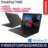 【ThinkPad】T490 20N2CTO3WW 14吋i7-8565U四核MX250 2G獨顯SSD效能商務筆電(一年保固)