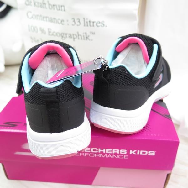 Skechers GO RUN CONSISTENT 中童鞋 302409LBLK 黑粉【iSport愛運動】