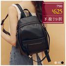 後背包-韓版個性皮革收納兩用後背包-共3色-A12121843-天藍小舖
