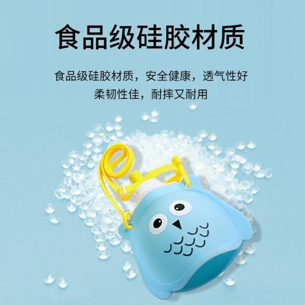 兒童水杯硅膠水壺水袋可摺疊便攜戶外水壺防摔防嗆寶寶代替吸管杯 格蘭小鋪