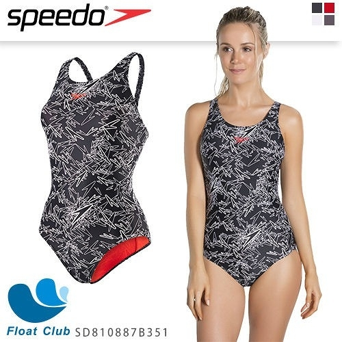 【SPEEDO】女人運動連身泳裝-Boom AL MB -黑x白原價NT.2680元