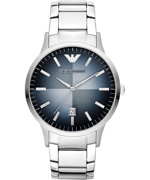 Emporio Armani 亞曼尼 義式光輝時尚都會手錶-藍 AR2472