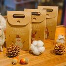 【BlueCat】第二代淺色印刷復古牛皮紙聖誕動物包裝盒 禮物盒