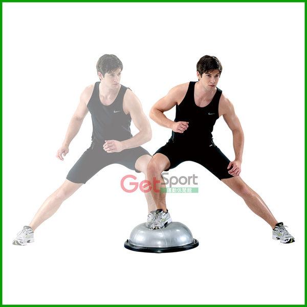 半圓瑜珈球踏墊(拉繩無顆粒款)(瑜珈球座/平衡球/半圓球/彈力繩/平衡墊/Bosu Ball/Balance step/台灣製)