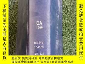 二手書博民逛書店化學摘要(CHEMICAL罕見ABSTRACTS)CA1999