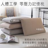 枕頭 / 人體工學記憶枕 [超柔軟 零壓力舒眠枕-兩色] 萊卡竹節棉 / 護頸舒適 / 止鼾枕 / 低反發枕