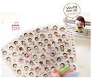 【00334】 韓國小妞momoi sticker 透明裝飾卡通貼紙 辦公文具 開學文具 文具 貼紙 1組6入