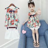 女童夏裝套裝時尚兒童裝兩件式3洋氣4時髦5歲6夏季潮