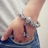 特賣貔貅手鍊-緊箍咒悟空霸氣純銀韓版潮復古男士個性學生藏銀佛珠手串