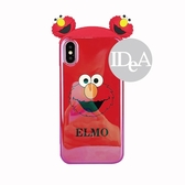 IDEA  iPhone XS Max 芝麻街立體公仔手機殼  保護殼 軟殼 全包 防摔 Elmo 藍光