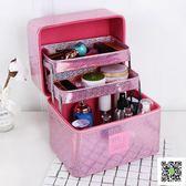 化妝包大容量多功能韓國大號簡約便攜多層化妝箱小號手提品收納盒 聖誕慶免運