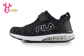 FILA 中大童 MD 足弓機能鞋 緩震氣墊 運動鞋 慢跑鞋 P7655#黑白◆OSOME奧森鞋業