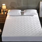 床罩 棉質單件夾棉床笠加棉床罩席夢思保護罩薄床套床墊防塵罩防滑固定【快速出貨】