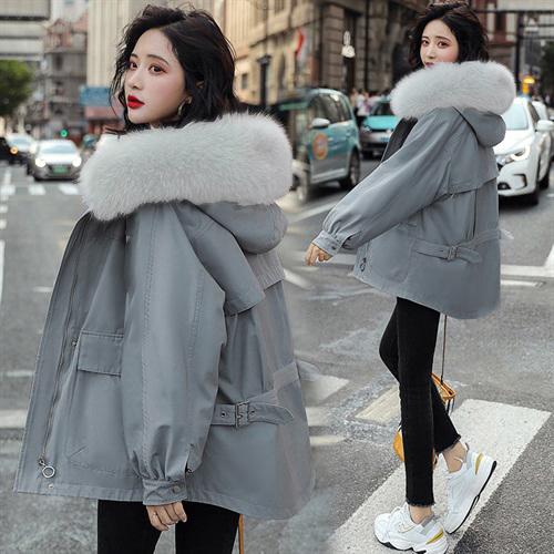 超殺29折 韓系優雅氣棉服棉衣大毛領短款長袖單品外套