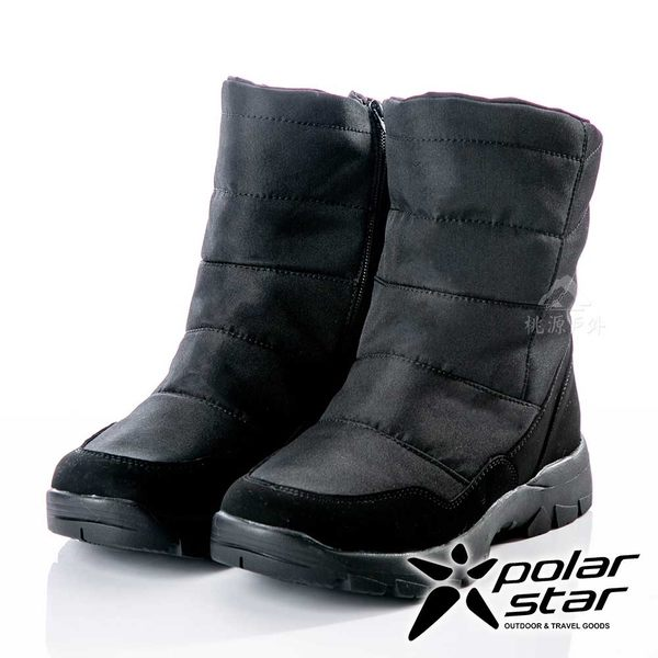 【PolarStar】男保暖雪鞋『黑』P18629 (冰爪 / 內厚鋪毛 /防滑鞋底) 雪靴.雪鞋.賞雪.滑雪.雪地必備