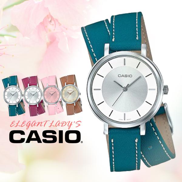 CASIO手錶專賣店   CASIO_LTP-E143DBL-3A 真皮錶帶 礦物玻璃 50米防水