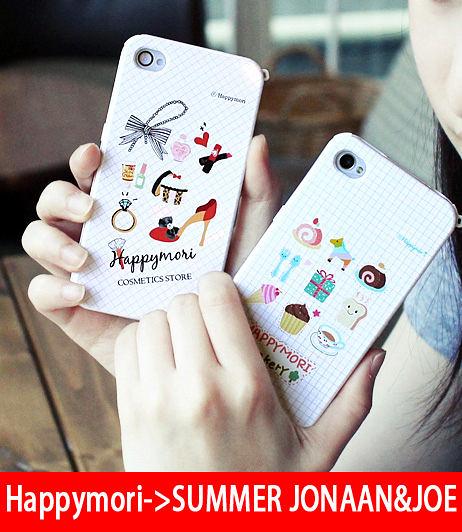 【韓國原裝 Happymori】※Beauty&Cutie Case※ 前殼+背殼 手機保護殼 適用iphone4s/4  Galaxy S2 i9100