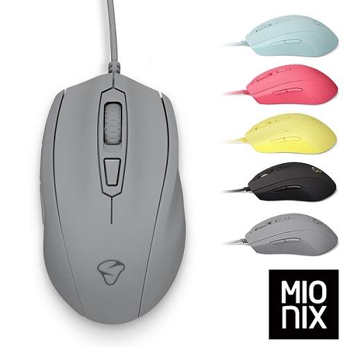MIONIX Castor Shark Fin 人體工學有線電競滑鼠(鯊魚灰) 台灣總代理緯思創公司貨