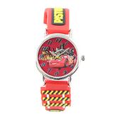 【Disney】閃電麥坤 造型橡膠錶帶兒童錶-亮眼紅/CR-3K2398P-002RD/原廠授權享一年保固