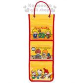 〔小禮堂〕Sanrio大集合 收納掛袋《黃.房間》Sanrio70年代人物系列4901610-66943