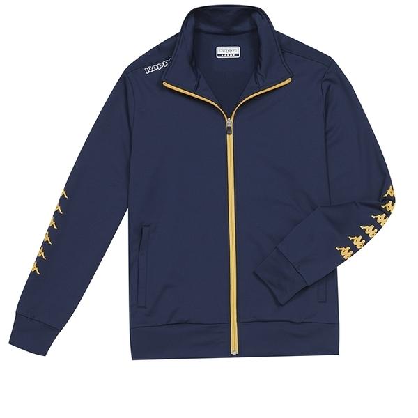 KAPPA義大利時尚型男運動針織外套~丈青3513B9WB29